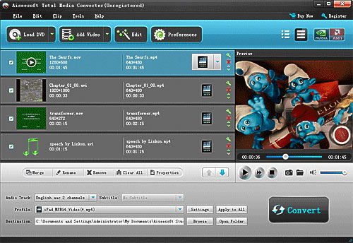 How to Convert DVD and Video to Any Video Format You Want Freely? Load