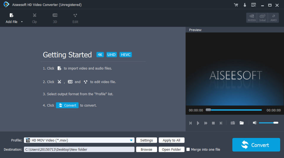 Click to view Aiseesoft HD Video Converter screenshots