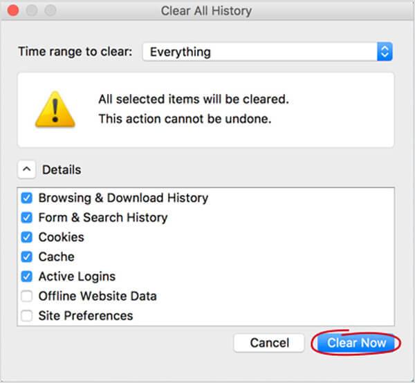 Wyczyść pamięć podręczną Firefoksa na komputerze Mac