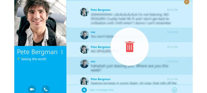 Jak odstranit zprávy Skype