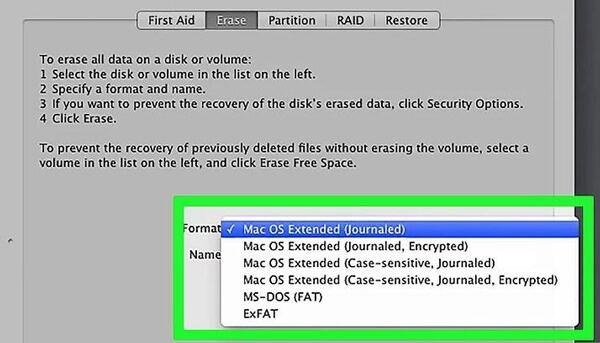 Επιλέξτε σκληρό δίσκο Mac