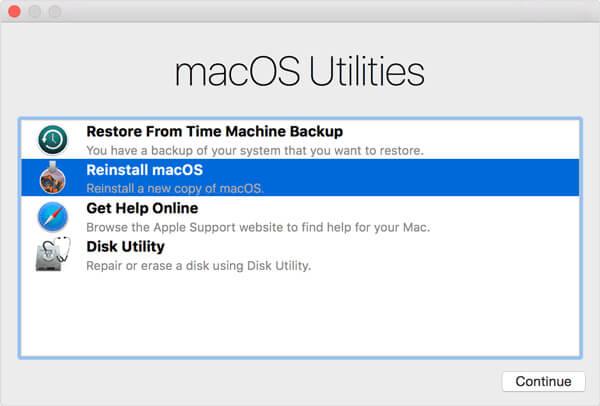 Installeer macOS opnieuw
