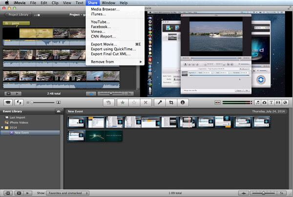 Export Project on iMovie