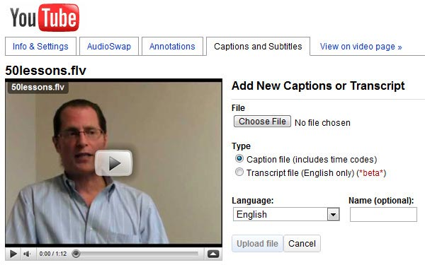 Add Captions to the Video