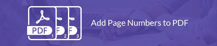 Προσθέστε τους αριθμούς σελίδων σε PDF