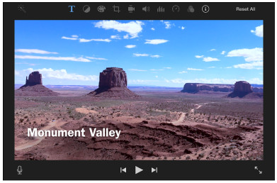 Aggiungi testo al video con iMovie