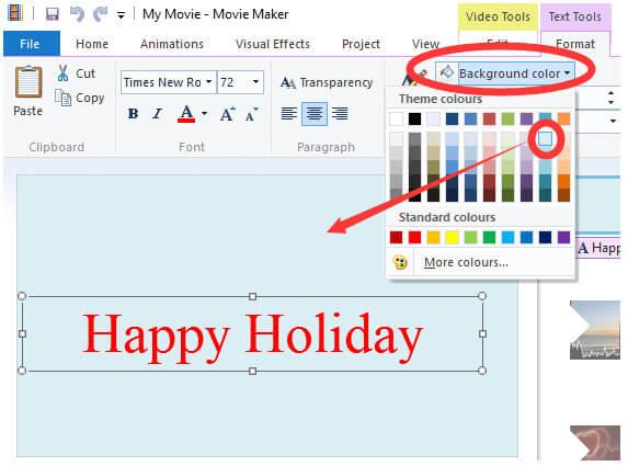 Aggiungi testo al video con Windows Movie Maker