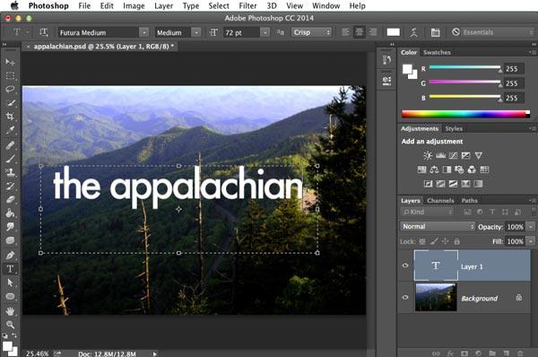 Aggiungi testo a video con Photoshop