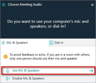 Choose Audio