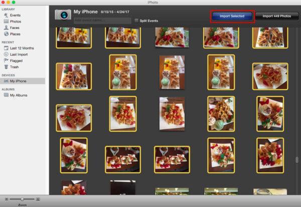 Δημιουργία αντιγράφων ασφαλείας φωτογραφιών iPhone σε Mac με iPhoto