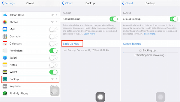 Backup Messages to iCloud