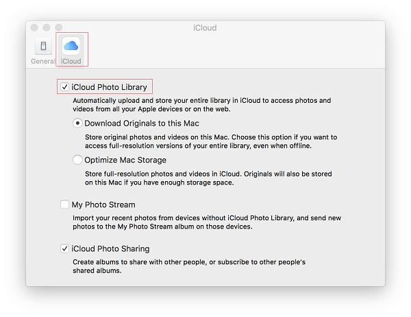 Controlla la libreria di foto di iCloud