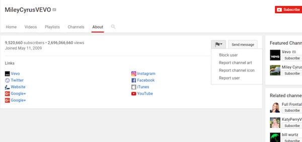 Αποκλεισμός χρήστη YouTube