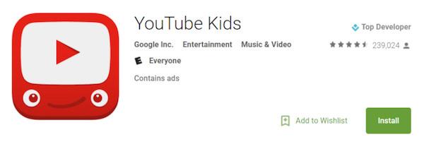 Εφαρμογή YouTube Kids