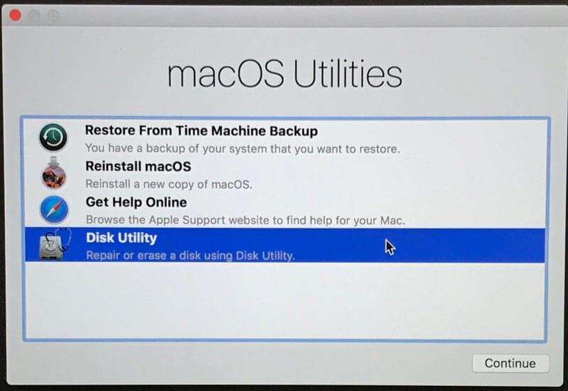 Ripristino di Mac OS