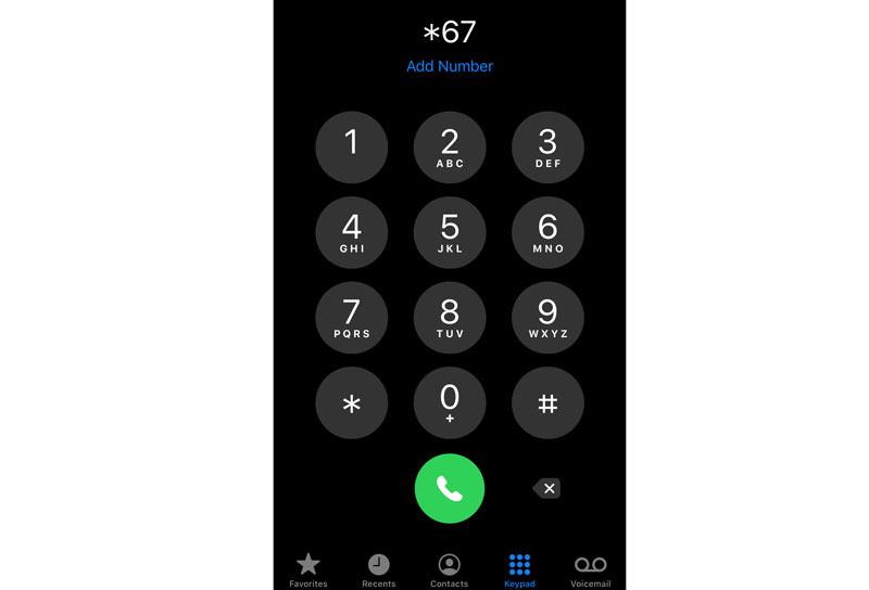Mascherare il numero di telefono