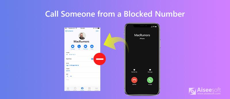 Chiama qualcuno da un numero bloccato