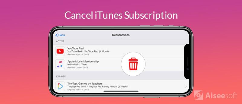 Annulla l'abbonamento iTunes