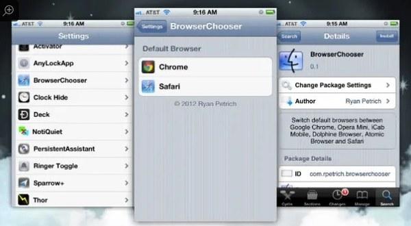 Cambia browser predefinito su iPhone