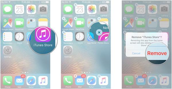 Elimina app iphone