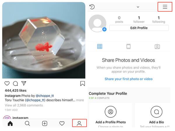 Cancella la cronologia delle ricerche di Instagram