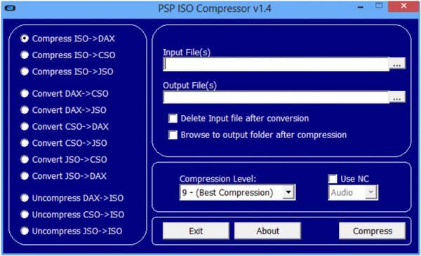PSP ISO συμπιεστή