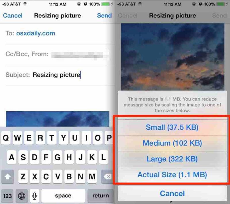 Συμπίεση φωτογραφίας από iPhone