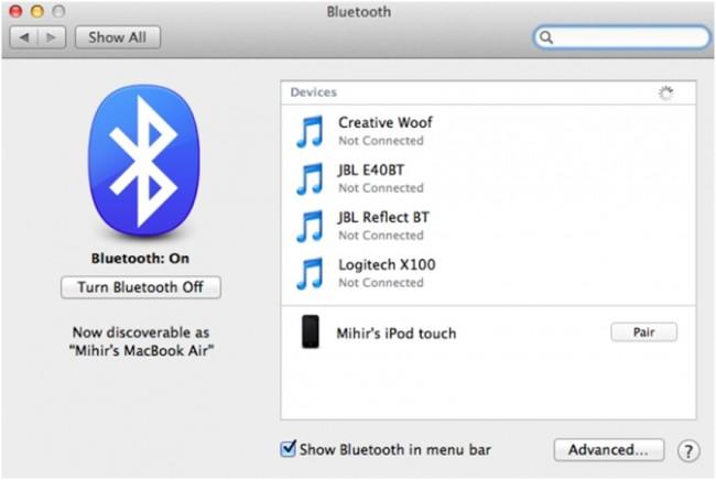 Ενεργοποιήστε το Bluetooth