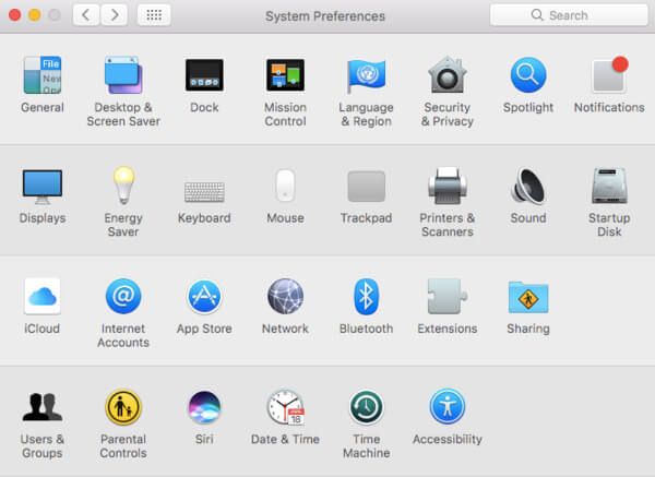 Head to system preferences