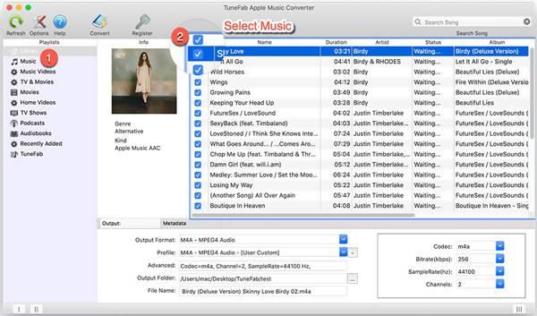 Επιλέξτε Μουσική από το Tunefab