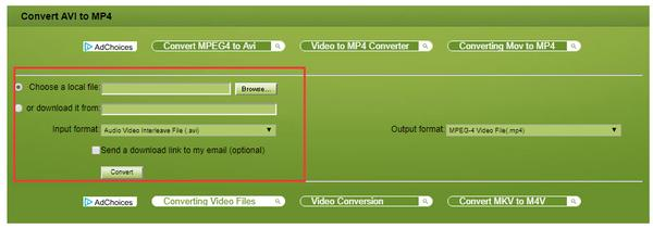 Top 5 Free But Useful AVI to MP4 Online Converters