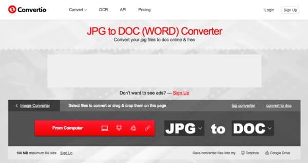 Konwersja JPG do Word Converter Free