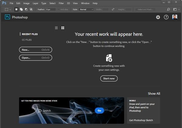 Uruchom Adobe Photoshop