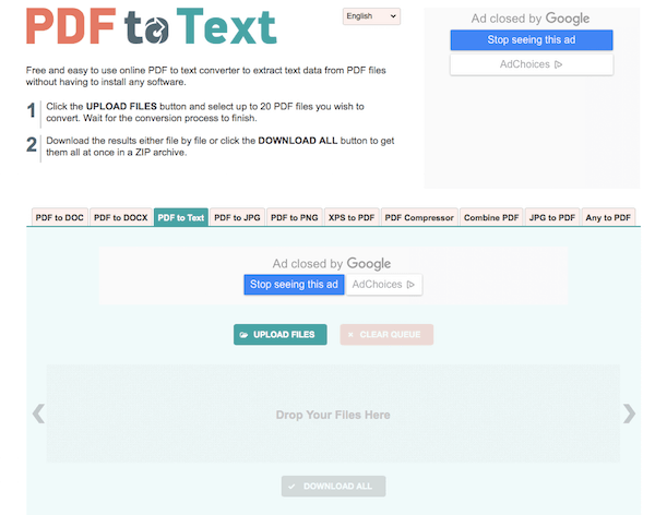 PDF σε κείμενο