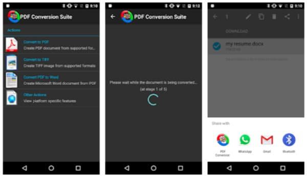 Converti Tiff in PDF Android