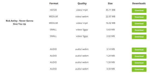 Scegli il formato video