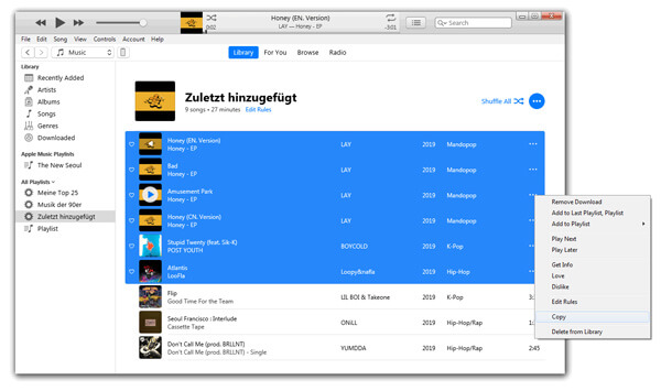 How to Copy/Transfer iTunes Playlist to USB Drive on Windows/Mac