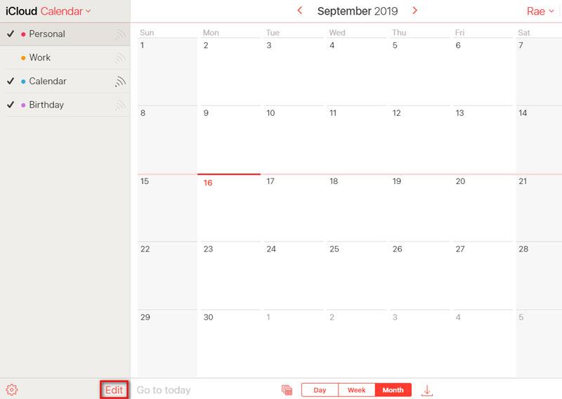 Rimuovi calendario