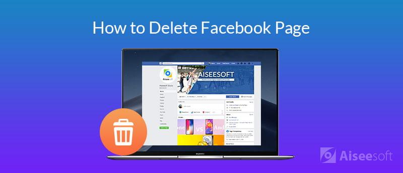 Elimina una pagina Facebook
