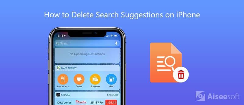 Διαγραφή προτάσεων αναζήτησης στο iPhone