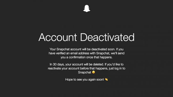 Delete Account on Snapchat