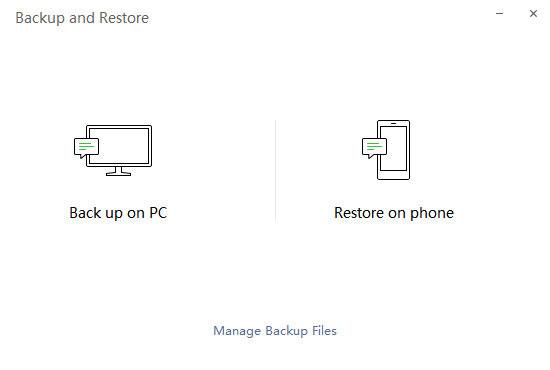 Eseguire il backup su PC