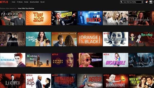 Netflix網站