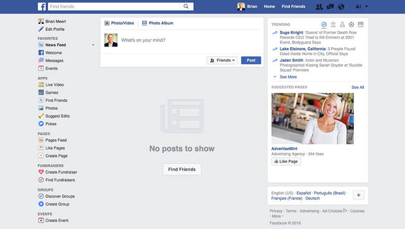 Search for People on Facebook on PC