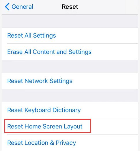 Ripristina layout schermata iniziale iPhone
