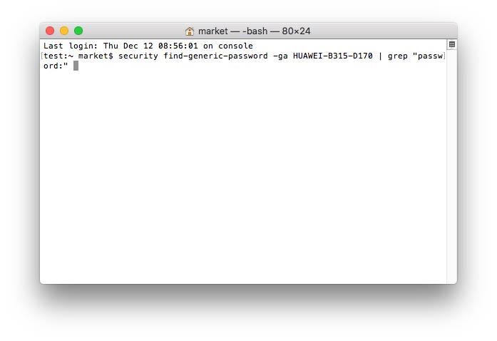 Εισαγάγετε την εντολή WIFI Password Checker