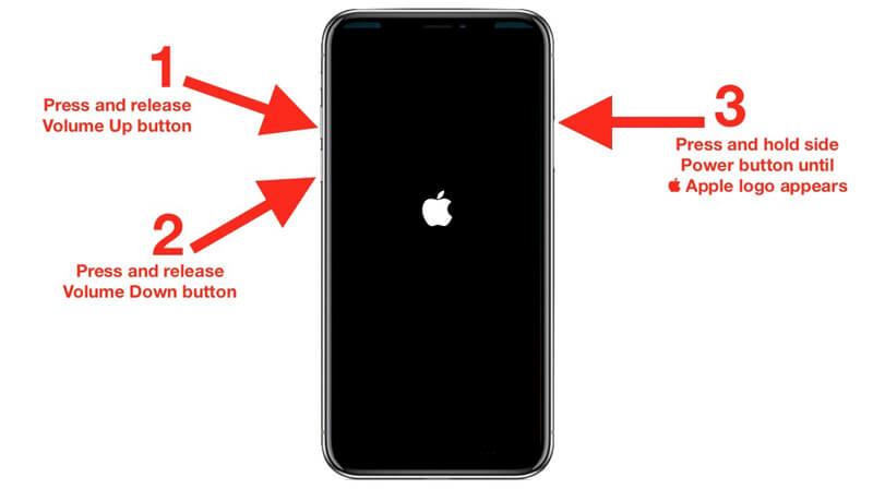 Vynutit restartování iPhone