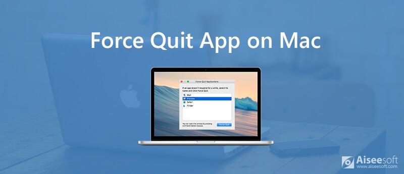Αναγκαστική έξοδο από μια εφαρμογή σε Mac