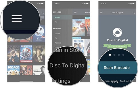 Vudu Disc to Digital