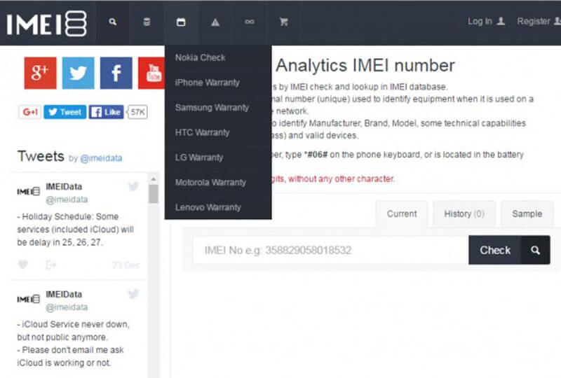 Ricerca nel database IMEI